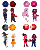 Ruby and Sapphire Adopts by p0ssum-adopts