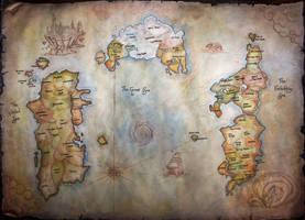 World of Warcraft Map by HelevornArt