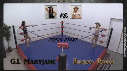 Bronco Becca vs. G.I. Maryjane 01 by KnockoutCats