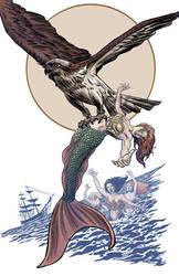 MermaidVsGiantBirdColor by summey-anthony