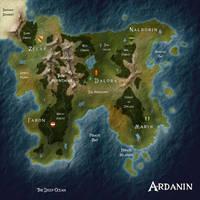 Map of Ardanin by Eowyn-Saule