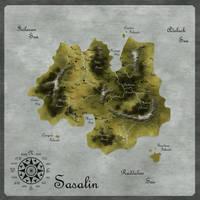 Map: The Island of Sasalin by Eowyn-Saule