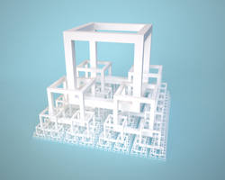 Cube pyramid by usere35