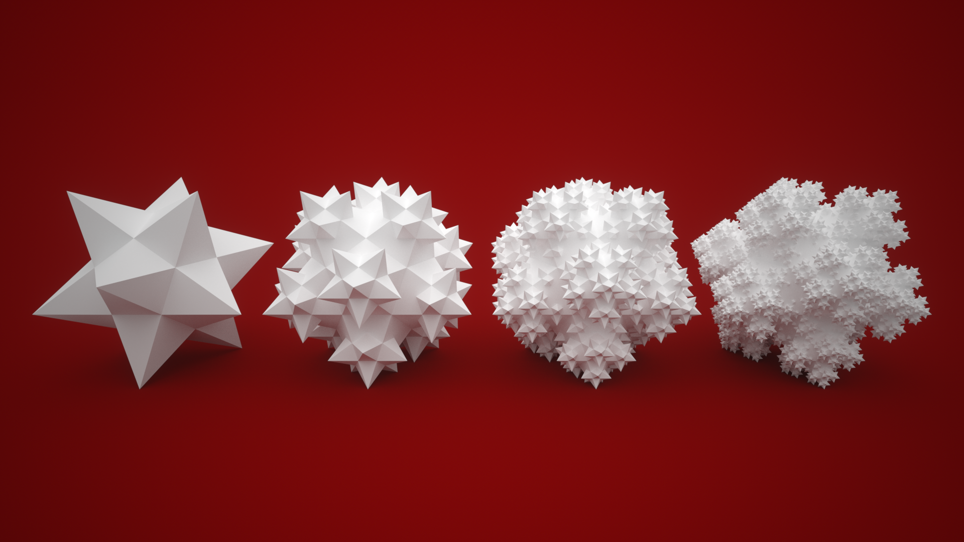 Small Stellated Dodecahedron Fractal by usere35