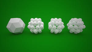 Rhombic triacontahedron cluster by usere35