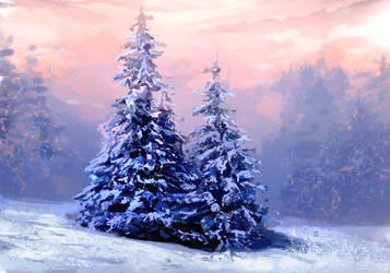 blue pines by fluffySlipper