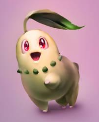 Chikorita!! by fluffySlipper