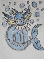pokemon vaporeon (Color) by metalwolf77777