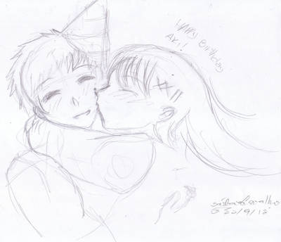 HAPPY BIRTHDAY AKI!!!! - sketch - by Aiko-Hirocho