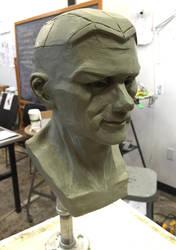 Male Head Sculpture by Bloo-Ocean