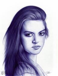 Portrait of Heather Rooney by GabrielKoiArt