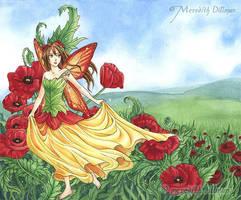 Book art - Poppies by MeredithDillman
