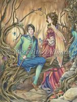 Book Art - Fairy Royalty by MeredithDillman