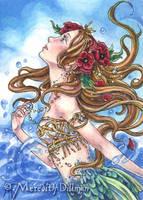 Poppy Mermaid ACEO by MeredithDillman