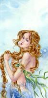 Mermaid Braiding her Hair by MeredithDillman