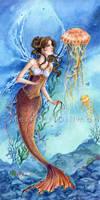 CURIOSITY - Mermaid and jelly by MeredithDillman