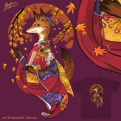 Fall Kitsune Threadless design - Please Vote! by MeredithDillman