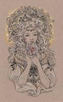 Austeja the Bee Goddess by MeredithDillman