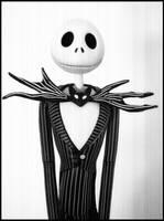 .Jack Skellington portrait. by dollmassacre