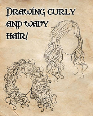 How I Draw Curly And Wavy Hair By Cristianaleone On Deviantart