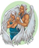 Eydis and Rowyn by CristianaLeone