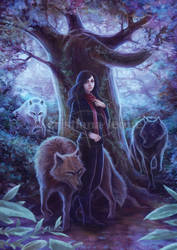 Girl with Wolves by CristianaLeone