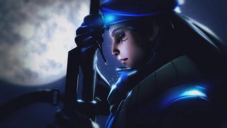 Overwatch background - Captain Amari [SFM] by Mrjimjamjamie