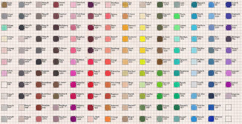 Sanford Prismacolor Color Chart by Josephine9606