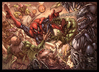 Spiderman color spread by pant
