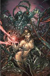 Witchblade and Darkness by pant