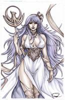 Athena from Saint Seiya by pant