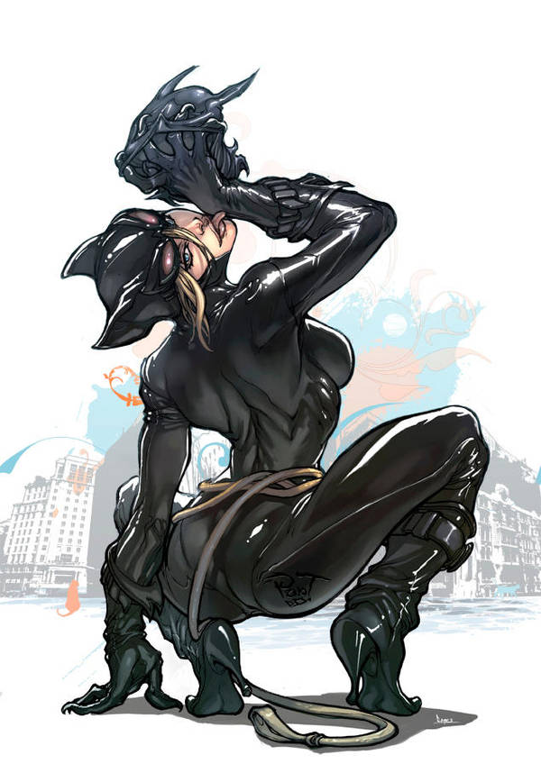 Catwoman in white by pant
