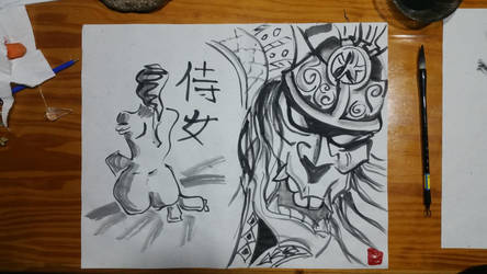 female  samurai by alkeman