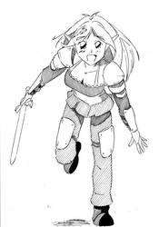 Elf Girl Commission by rawrtacular