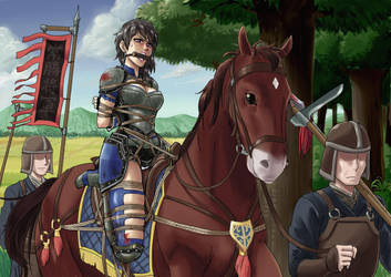 Captive on a horse by root001
