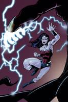 wonder woman vs captain marvel! by freddylupus