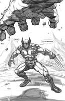 Wolverine/Hulk Pinup by freddylupus