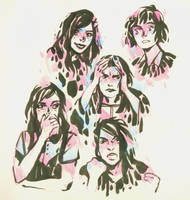 Emotion Sketches by DaryaSpace
