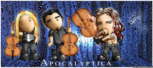 Apocalyptica toon by Nelhemyah by PicturesOfMusic