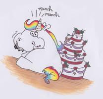 Pummeleinhorn - Wedding Cake Version by MonsterInTheFridge