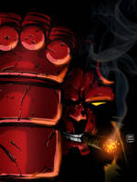 Celebrating 20years of Hellboy by holaso