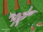 Running Through The Forest by HappyHyenaGirl