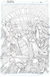 Miskatonic High issue 2 cover (pencils) by MiskatonicHigh