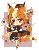 Twin tailed fox adopt (closed) by yukarink