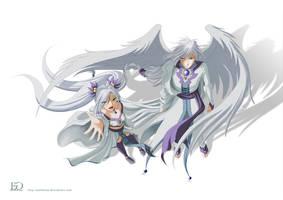 Yuzuki with Yue by Esthelae
