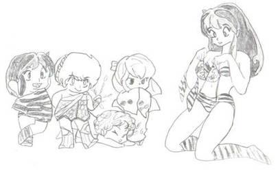 LUM AND FRIENDS by The-NecroNeko