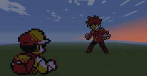 Pokemon battle by NekoChstr