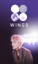 BTS | WINGS - V [WALLPAPER] by itsyesi