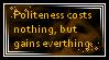 Politeness by JediSenshi