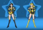 Sailor BlackGold and Sailor GoldBlack by JediSenshi